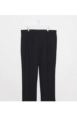 ASOS Muži Chino - Plus slim smart trousers in black