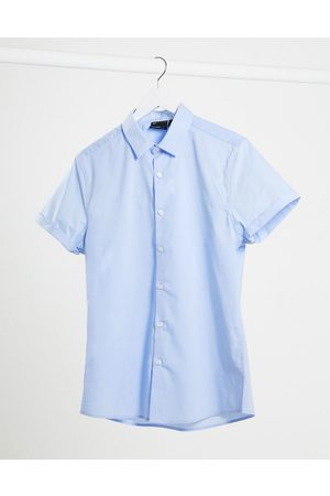 ASOS Stretch slim fit work shirt in blue