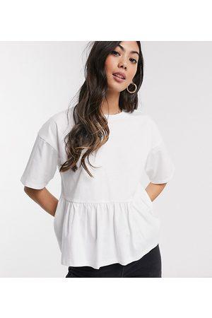 ASOS ASOS DESIGN Petite casual smock top-White