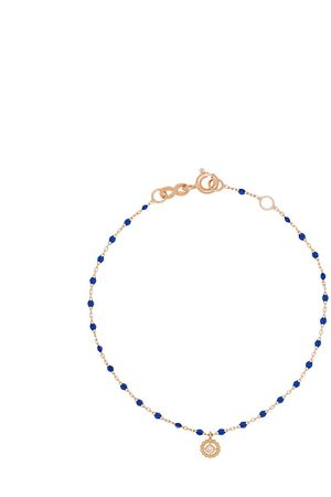 GIGI CLOZEAU Lucky 18kt rose gold diamond charm bracelet