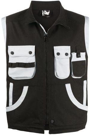 GR10K Muži Vesty - Contrast pocket gilet