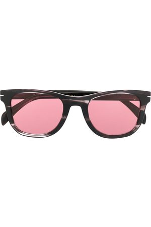 David beckham Rounded square-frame havana sunglasses