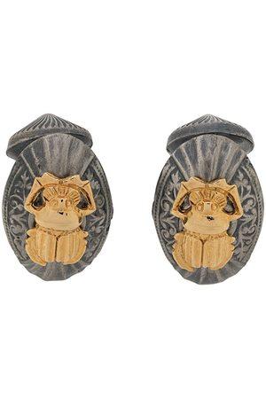 Gianfranco Ferré 2000s bettle motif oval cufflinks