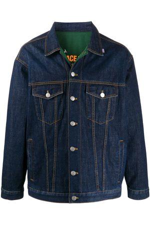 MARTINE ROSE Reversible buttoned denim jacket