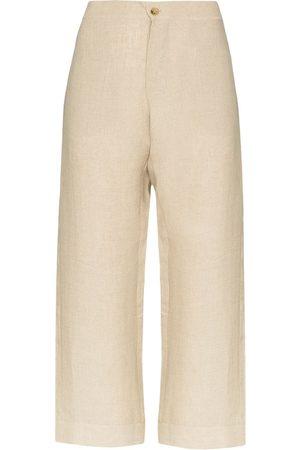 ASCENO Ženy Široké nohavice - Antibes cropped wide-leg trousers