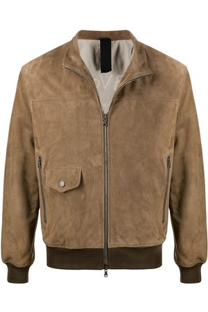 Orciani Suede-effect bomber jacket