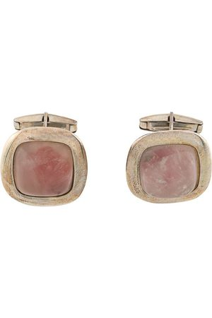 Gianfranco Ferré 2000s rose quartz cufflinks