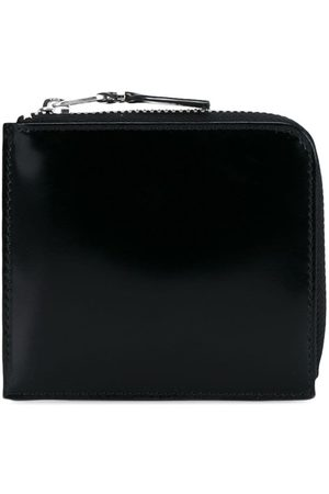 Comme des Garçons Gloss Black Silver Leather Wallet