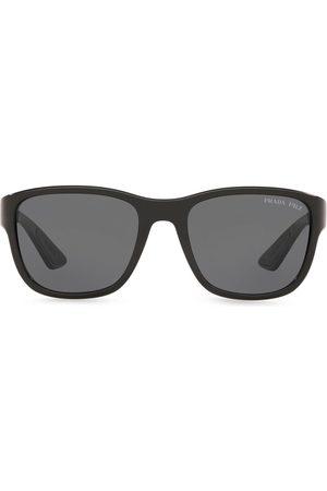 Prada Linea Rossa polarized rectangular-frame sunglasses