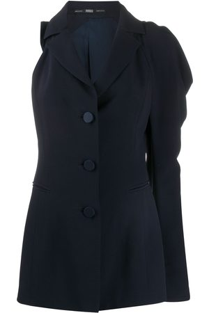 Gianfranco Ferré 1990s single-sleeve draped blazer-style top