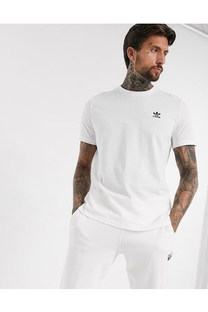 adidas Essentials small logo t-shirt in white