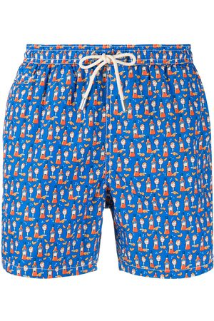 MC2 SAINT BARTH Muži Šortky - Happy hour print swim shorts