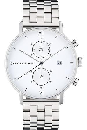 Kapten & Son Analogové hodinky 'Chrono Silver Steel