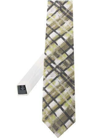 Gianfranco Ferré 1990s striped print neck tie