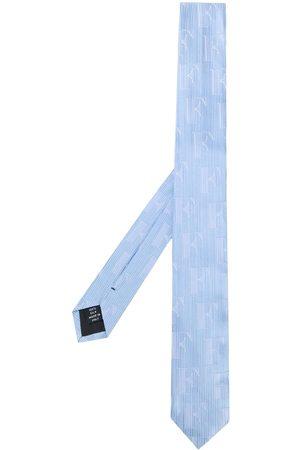 Gianfranco Ferré 1990s debossed logo striped neck tie