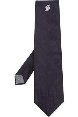 Gianfranco Ferré 1990s logo embroidered tie