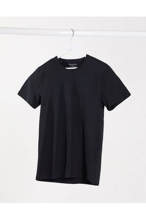 Selected The Perfect Tee' pima cotton t-shirt in black