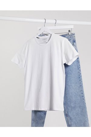 Selected The Perfect Tee' pima cotton t-shirt in white
