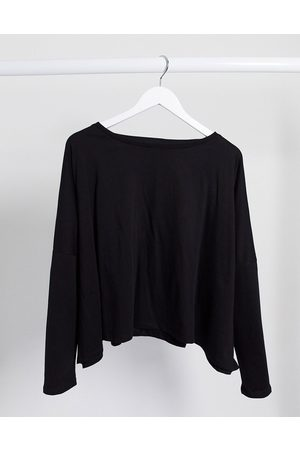 ASOS Slouchy top with batwing sleeve in black