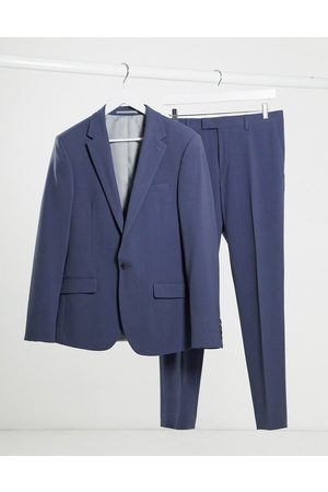River Island Skinny suit jacket in blue