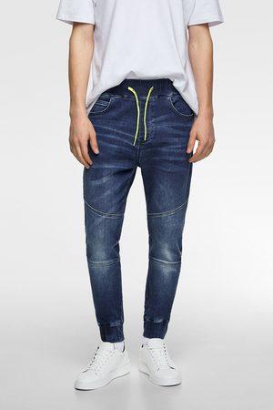 Zara Muži Strečové - Kombinované kalhoty jogger soft denim