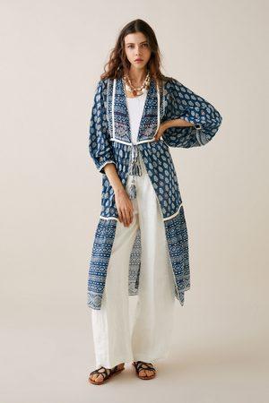 Zara Ženy Kimona - Kimono s potiskem a výšivkami