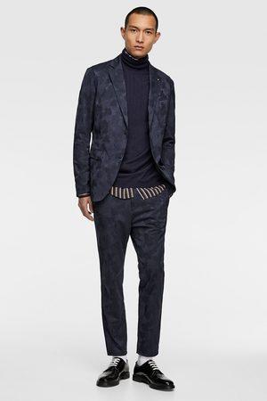 Zara žakárové sako se vzorem kamufláže