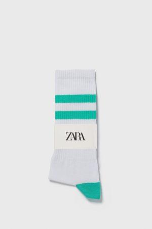 Zara žebrované ponožky s barevným páskem