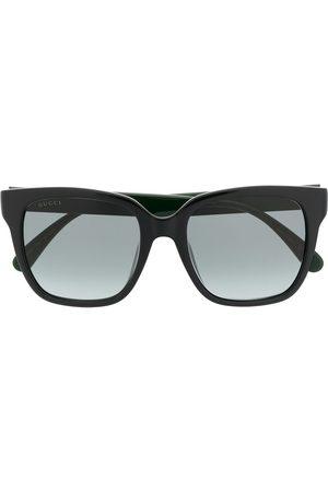 Gucci Square-frame Web-stripe sunglasses