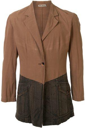 Issey Miyake Two-tone denim print jacket