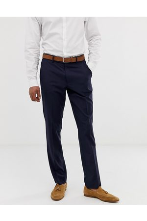 ASOS Muži Chino - Slim smart trousers in navy