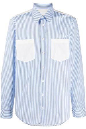Helmut Lang Striped cotton long sleeved shirt