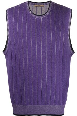Emanuel Ungaro Pre-Owned 2000s knitted pinstripe vest