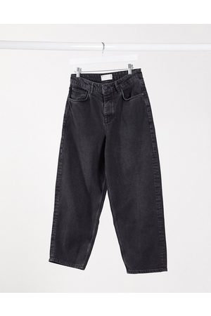 ASOS Barrel jeans in washed black