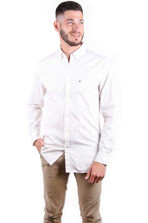 Tommy Hilfiger Muži Košile - Pánská smetanová košile Argyle Print