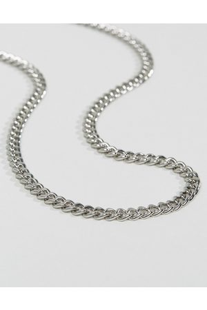 ASOS Midweight chain in silver tone