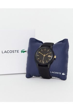 Lacoste Hodinky - 12.12 silicone watch in black