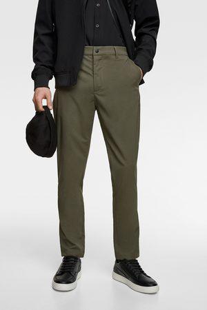 Zara Funkční kalhoty chino
