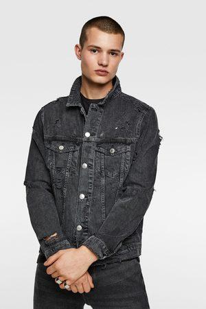 Zara Džínová bunda s roztrháním