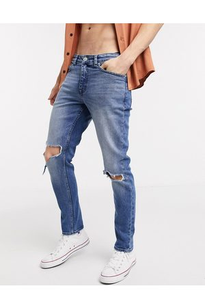 New Look Skinny ripped knee jeans in blue