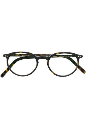 Lunor A5 tortoiseshell round-frame glasses