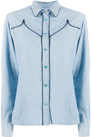 Golden Goose Alexa studded collar denim shirt