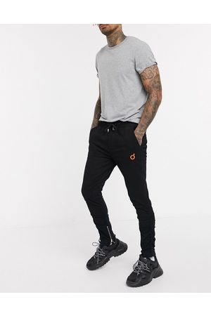 Blood Brother Muži Chino - Ruched skinny leg trousers in black