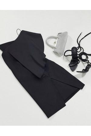 AQ AQ Ženy Přiléhavé - One shoulder bodycon dress in black