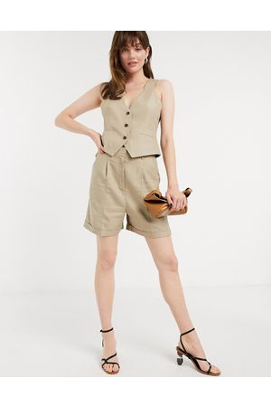 ASOS Dad suit short in taupe-Stone