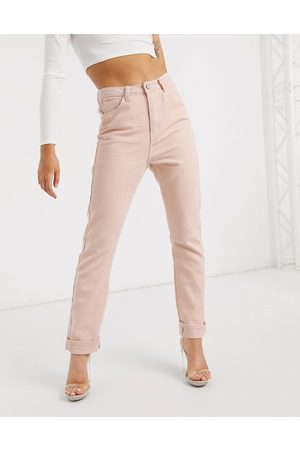 Missguided Mom jean in blush-Pink