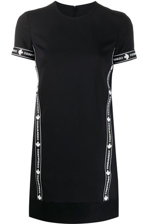 Dsquared2 Logo sports virgin wool blend T-shirt dress