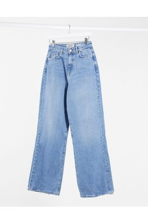 New Look Wide leg jean in mid blue
