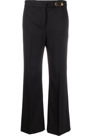 VERSACE Safety pin detail flared trousers