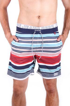 Pepe Jeans Muži Šortky - Pánské pruhované plavky Stripes